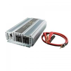 Invertor tensiune Whitenergy 06590 DC/AC de la 24V DC la 230V AC 1500W, 2 receptacule AC