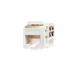 Keystone Jack module Netrack 1xRJ45 8p8c UTP Cat5e LSA with clamp, white