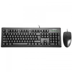 Kit A4Tech KM-72620D - Tastatura, USB, Black + Mouse Optic, USB, Black