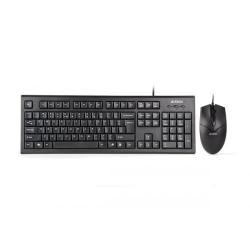 Kit A4Tech KR-85550 - Tastatura KR-85, USB, Black + Mouse Optic OP-550NU, USB, Black