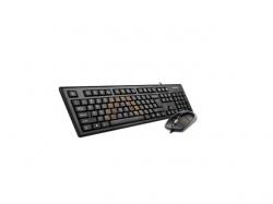Kit A4Tech KRS-8572 - Tastatura KRS-85, USB, Black + Mouse Optic OP-720-B, USB, Black