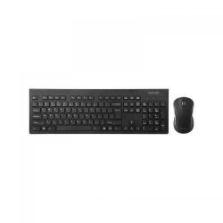 Kit Delux KA180+M391GX - Tastatura Wireless KA180, USB, Black + Mouse optic M391GX, USB Wireless, Black