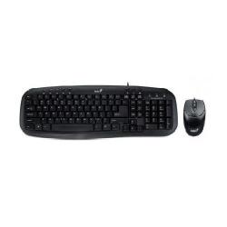 Kit Genius KM-200 - Tastatura, USB, Black + Mouse Optic, USB, Black