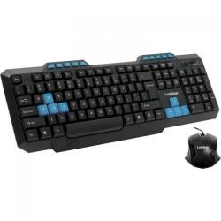 Kit LogiStep LSDK-5181 Tastatura, USB, Black + Mouse Optic, USB, Black
