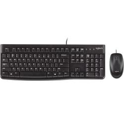 Kit Logitech MK120 - Tastatura, USB, Black + Mouse Optic, USB, Black