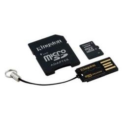 Kit Memory Card Kingston 16GB MicroSD + adaptor + USB reader