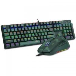 Kit Redragon S108 - Tastatura RGB, USB, Black + Mouse optic, RGB, USB, Multicolor