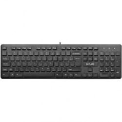 Kit Tastatura Delux KA150U, USB, Black + Mouse optic, USB, Black-Green