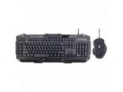 Kit Gembird KBS-UMG-01 - Tastatura, USB, Black + Mouse Optic, USB, Black