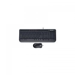 Kit Microsoft Desktop 600 - Tastatura, USB, Black + Mouse Optic, USB, Black