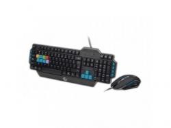 Kit Wireless Gembird KBS-WCH-01-HU - Tastatura, USB, Black + Mouse Optic, USB, Black