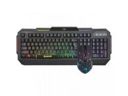 Kit Marvo KM413 - Tastatura K413, RGB LED, USB, Black + Mouse Optic Marvo M413, RGB LED, USB, Black