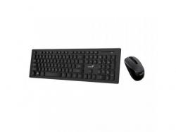 Kit Wireless Genius SlimStar 8006 - Tastatura, USB, Black + Mouse, Optic, USB, Black
