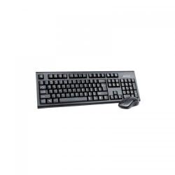 Kit Wireless A4Tech 3100N - Tastatura, USB, Black  + Mouse V-Track, USB, Black