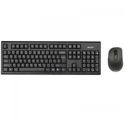 Kit Wireless A4Tech 7100N - Tastatura, USB, Black + Mouse V-Track , USB, Black