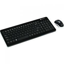 Kit Wireless Canyon CNS-HSETW3-US, Tastatura, USB, Black + Mouse Optic, USB, Black
