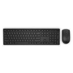 Kit Wireless Dell KM636, Tastatura, USB, Black + Mouse USB, Black