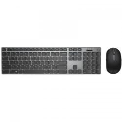 Kit Wireless Dell KM717 - Tastatura, USB, Bluetooth + Mouse Optic, Bluetooth, Black-Grey
