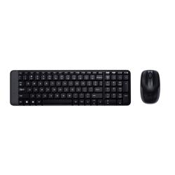 Kit Wireless Logitech K220 - Tastatura, USB, Black + Mouse Laser M150, USB, Black