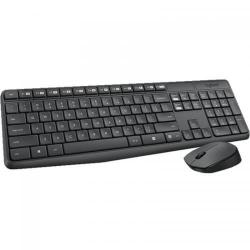 Kit Wireless Logitech MK235 - Tastatura, USB, Black  + Mouse Optic, USB, Black-Grey