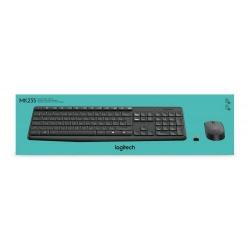 Kit Wireless Logitech MK235 - Tastatura, USB, Black + Mouse Optic, USB, Black-Grey, germana