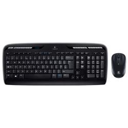 Kit Wireless Logitech MK3300 - Tastatura, USB, Black + Mouse Optic M215, USB, Black