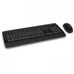 Kit Wireless Microsoft Desktop 3050 - Tastatura, USB, Black + Mouse BlueTrack, USB, Black