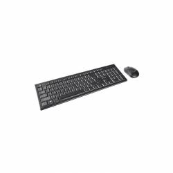 Kit Wireless Trust Nola Tastatura USB, Black + Mouse optic, USB, Black
