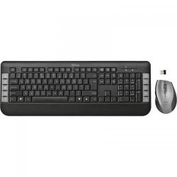 Kit Wireless Trust Tecla Tastatura USB, Black + Mouse optic, USB, Black