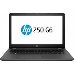 Laptop HP 250 G6, Intel Core I3-7020U, 15.6inch, RAM 8GB, HDD 1TB + SSD 128GB, AMD Radeon 520 2GB, FreeDos, Dark Ash Silver