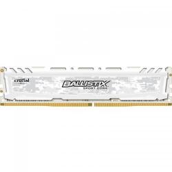 Memorie Crucial Ballistix Sport LT White 4GB, DDR4-2666MHz, CL16