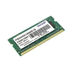 Memorie SODIMM Patriot 4GB, DDR3-1600 MHz, CL11