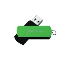 Memorie USB Exceleram USB 3.1 Gen1 32GB P2 verde cu negru