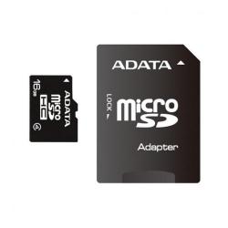 Memory Card A-Data Micro-SDHC, 16GB, cu adaptor SD
