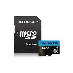 Memory Card A-Data Premier MicroSDXC, 64GB, Clasa 10 + Adaptor SD