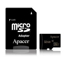 Memory Card Apacer MicroSDHC, 32GB, Clasa 10 + Adaptor MicroSD