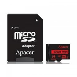 Memory Card Apacer R85 Micro SDHC, 32GB, Clasa 10 + Adaptor MicroSD