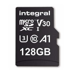 Memory Card Integral MICROSDXC 128GB, CLASA 10 + Adaptor SD
