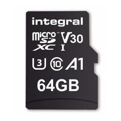 Memory Card Integral MICROSDXC 64GB, CLASA 10 + Adaptor SD