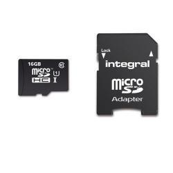 Memory Card Integral Ultima Pro MicroSDHC, 16GB, Clasa 10 + Adaptor SD