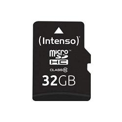 Memory Card Intenso MicroSDHC, 32GB, Clasa 10 + Adaptor SD