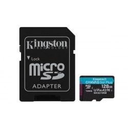 Memory Card Kingston Canvas Go! Plus microSD 128GB, CL10 + Adaptor SD