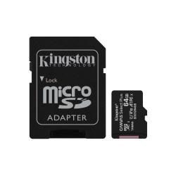 Memory Card Kingston Canvas Select Plus micro SDXC 64GB, Clasa 10 + Adaptor SD