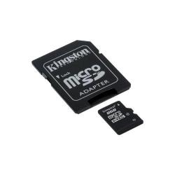 Memory card Kingston MicroSDHC 8GB, Clasa 4 + Adaptor SD