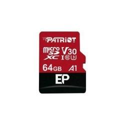 Memory Card Patriot EP Series, Micro SDXC V30, 64GB, Clasa 10