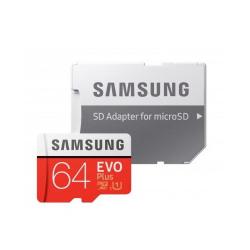 Memory Card Samsung EVO Plus microSD, 64GB, Class10 + Adaptor SD