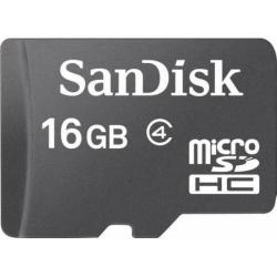 Memory Card SanDisk Micro SDHC,16GB, Clasa 4 + Adaptor SD Inclus