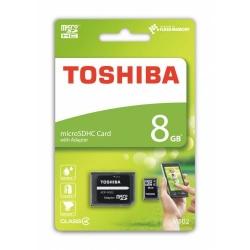 Memory Card Toshiba M102 microSD 8GB, class 4 + adaptor