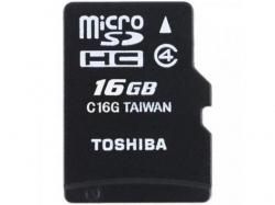 Memory Card Toshiba MicroSDHC, 16GB, Clasa 4