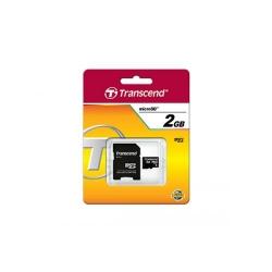 Memory Card Transcend microSD 2GB + Adaptor SecureDigital